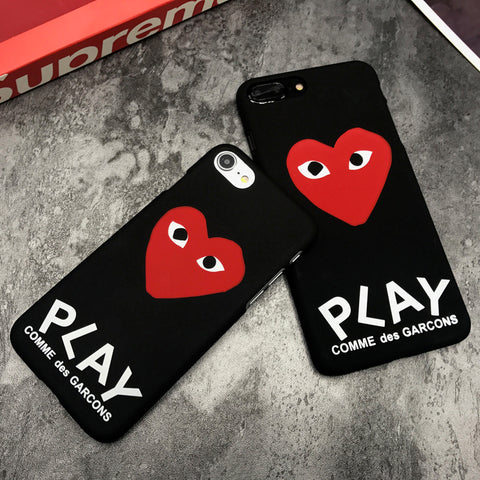 pretty nice 64b49 0c9a9 luxury brand CDG Play Comme des Garcons Hard Matte Protect Cases For ...