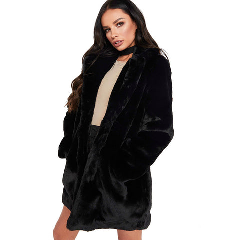 Women Long Fur Coat