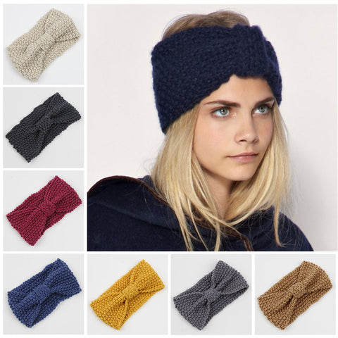 3735a1efec9 winter adult crochet knitted headbands for hair head band turban headband  head wrap turbante accessories women