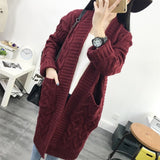long knitted sweater coat PU22