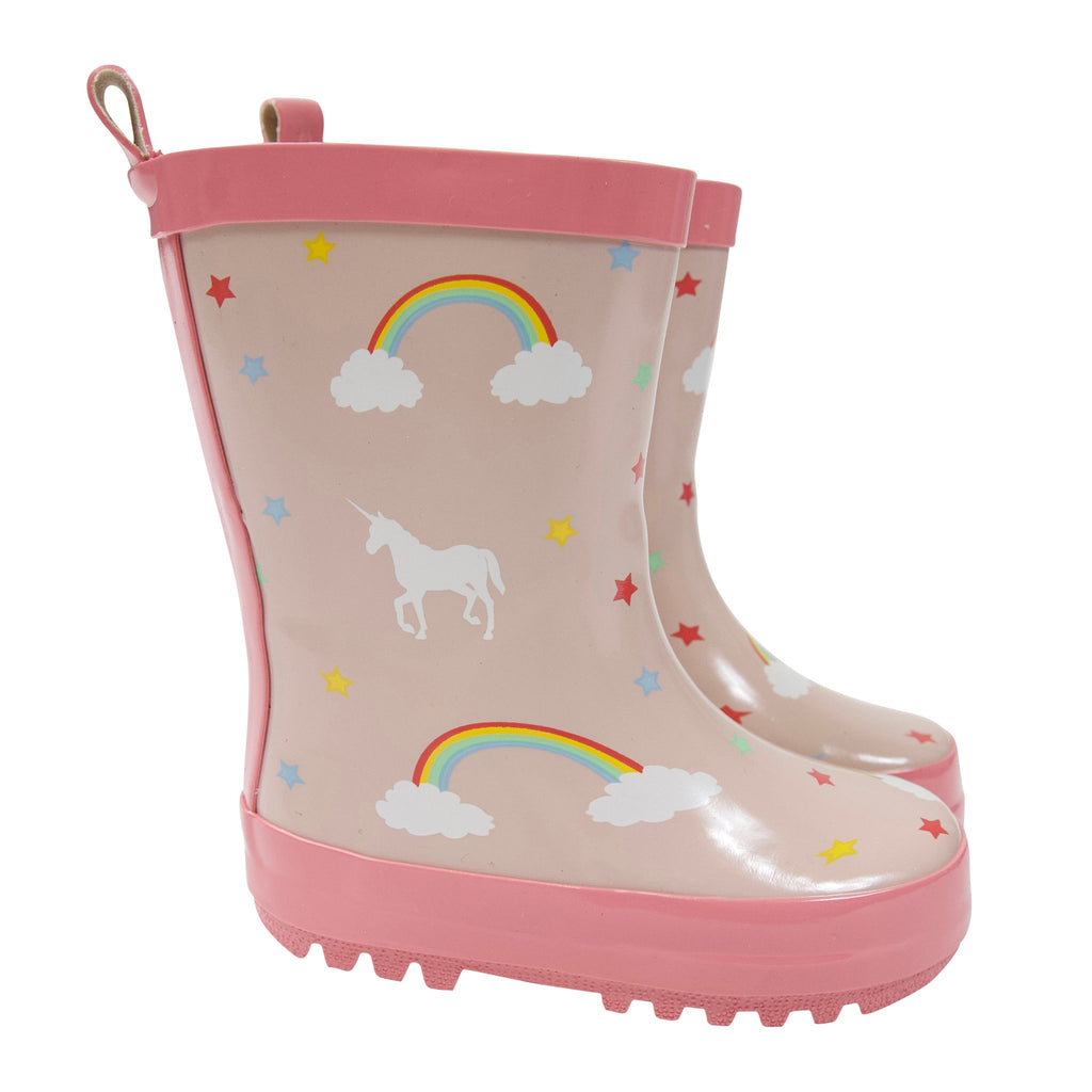A1752P Rainwear Girls Unicorn Rain Boot