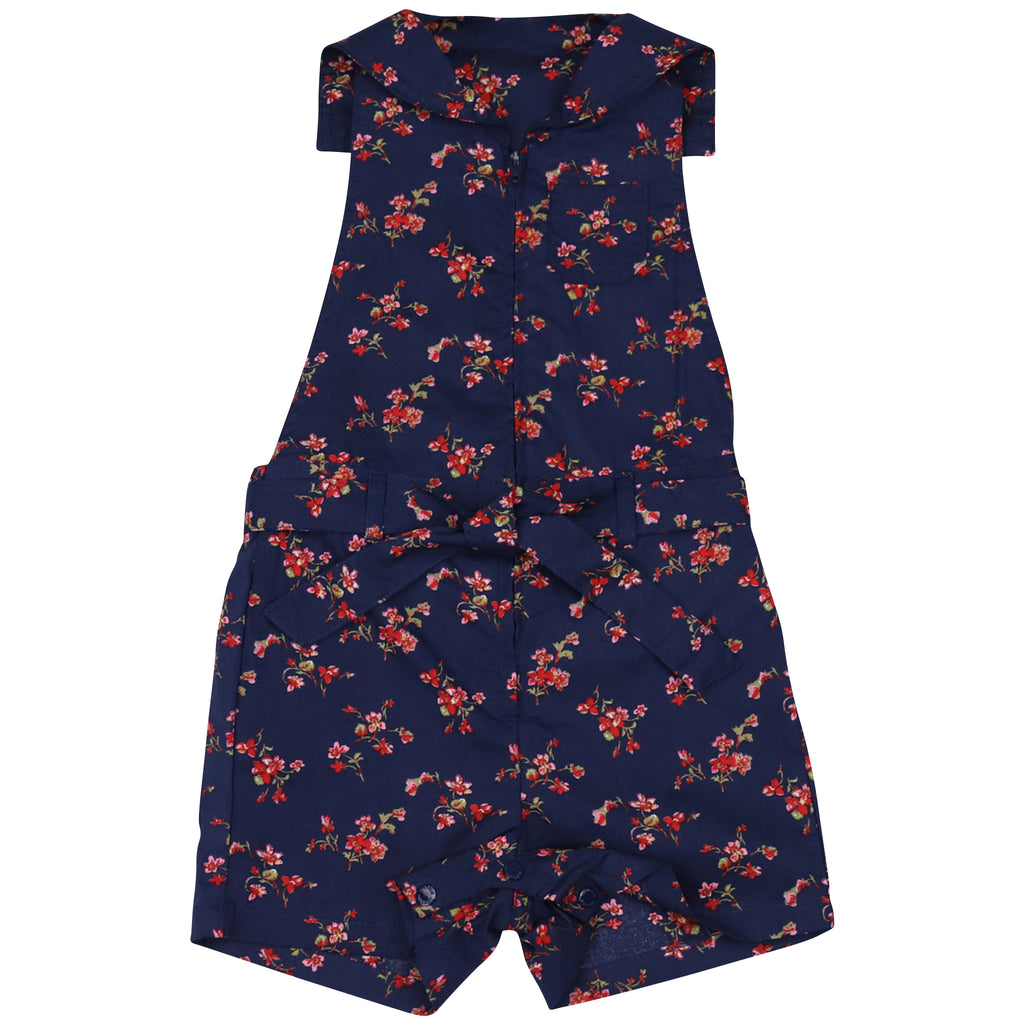 C1421N Navy Floral Floral Zip Playsuit