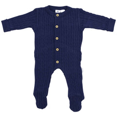 C1527N Cables n Class   Cable Knit Romper