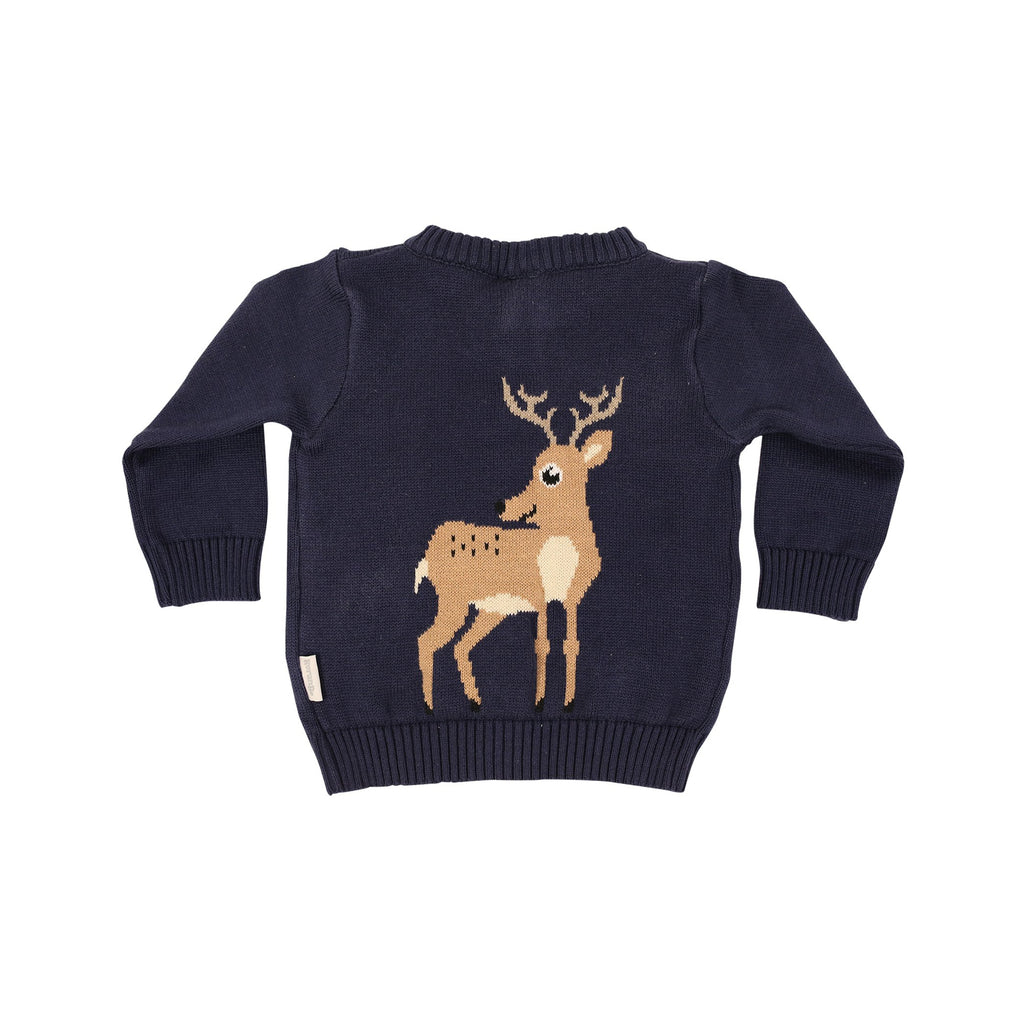 B1003 Little Deer Cardigan-Cardigans/Sweaters/Jackets-Korango
