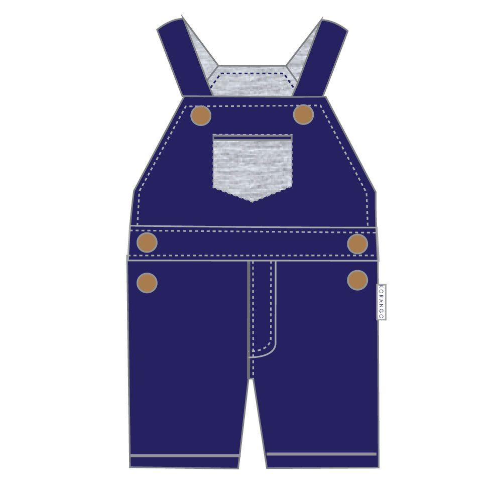 C1619N Classy Cotton Stretch Cotton Overalls