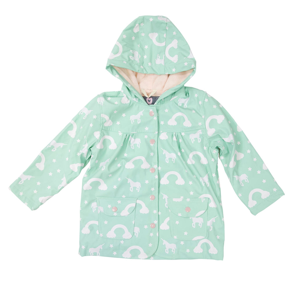 A1746M Rainwear Girls Colour Change Unicorn Raincoat