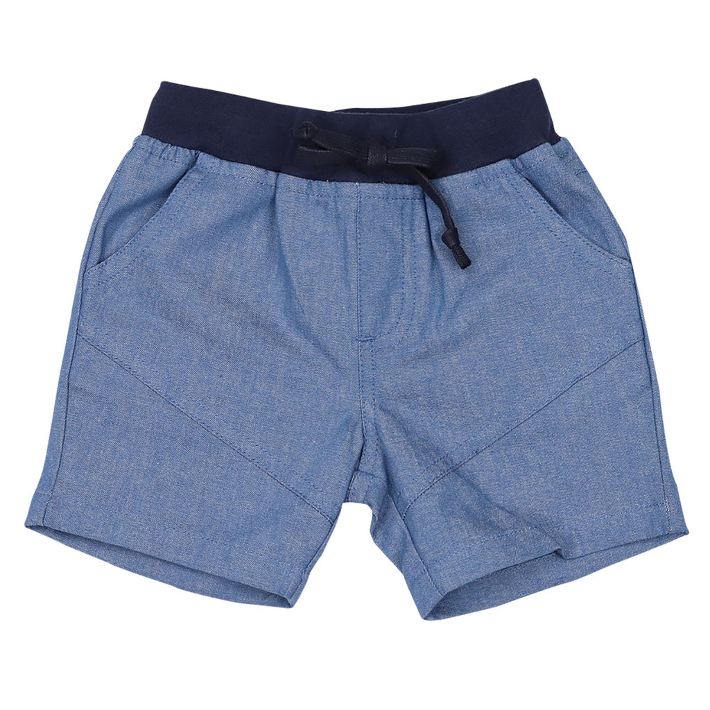 B1416D Whale Chambray shorts