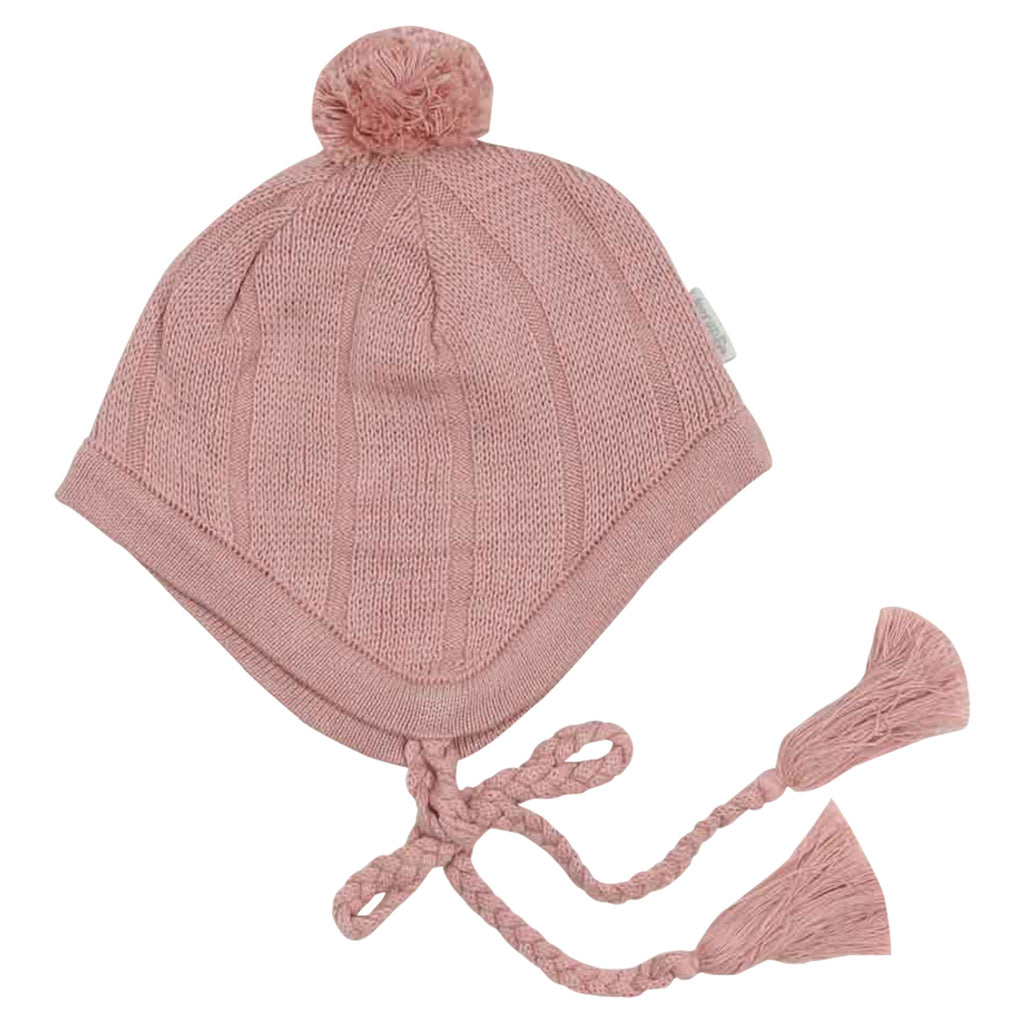 C1536P Natural Girl,Baby Girl Cable Knit Beanie