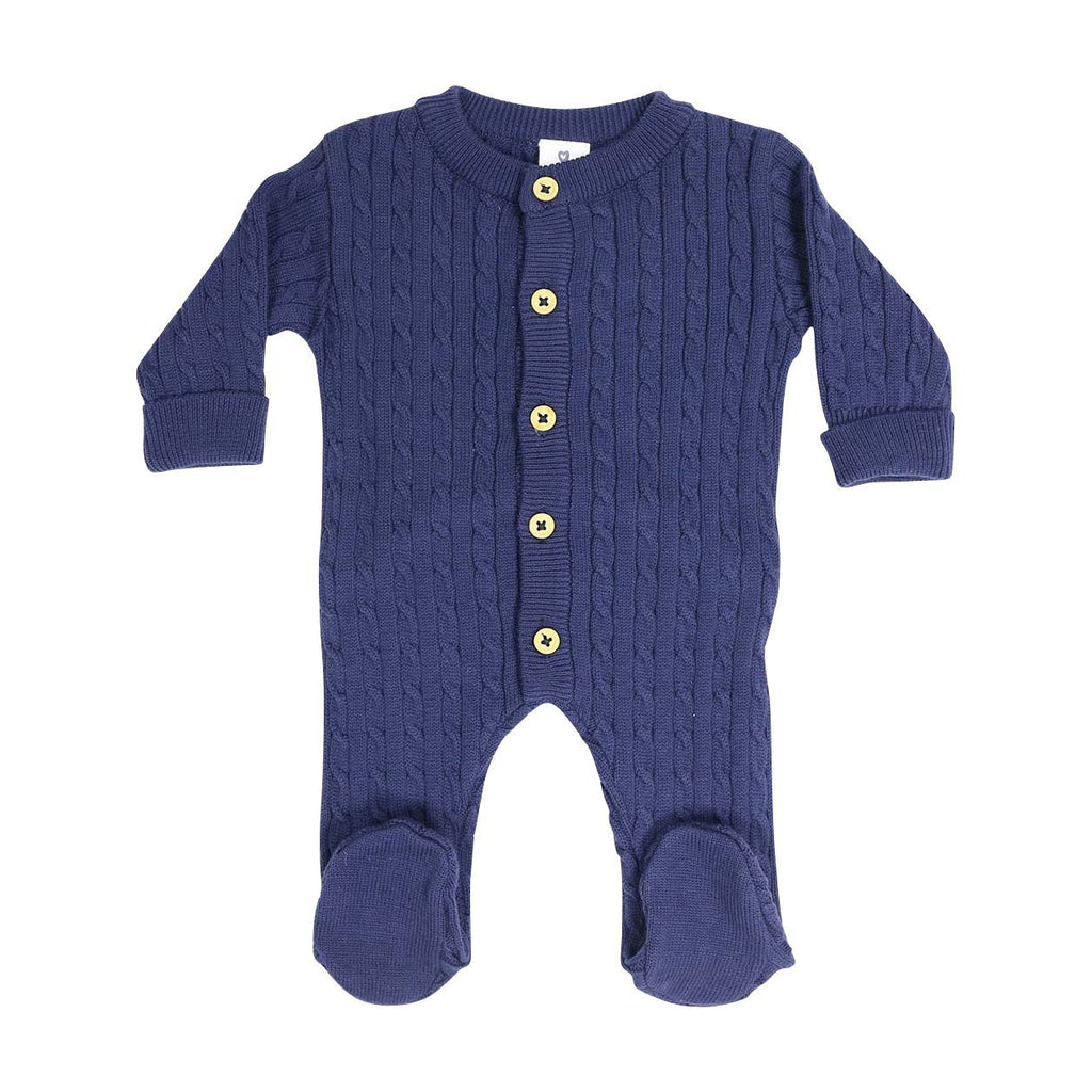 C13020N Classique Boy Cable Knit Romper-All In Ones-Korango