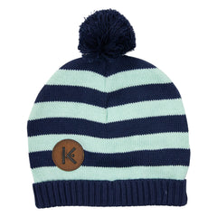 A1723G Construction Stripe Knit Beanie