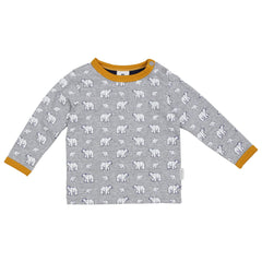 A1503G Polar Bear Printed Top