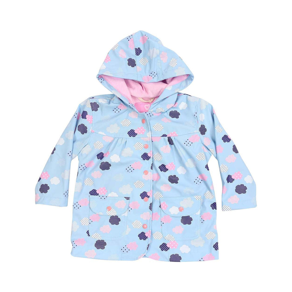 A1342B Rainwear Raincoat Cloud Print French Terry Lined-Rain Wear-Korango