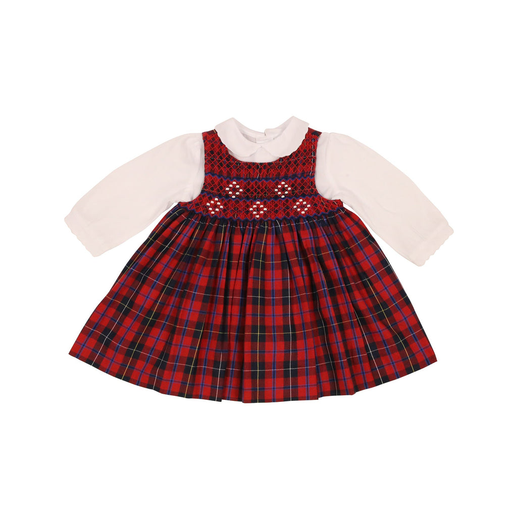 C9028 Plaid Girl Pinafore & Blouse-Dresses-Korango