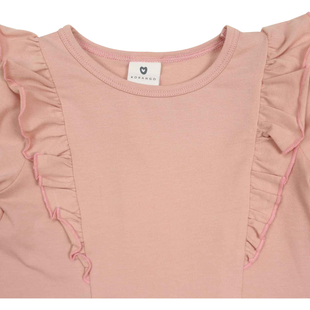C1532P Natural Girl,Baby Girl L/S Frill Top