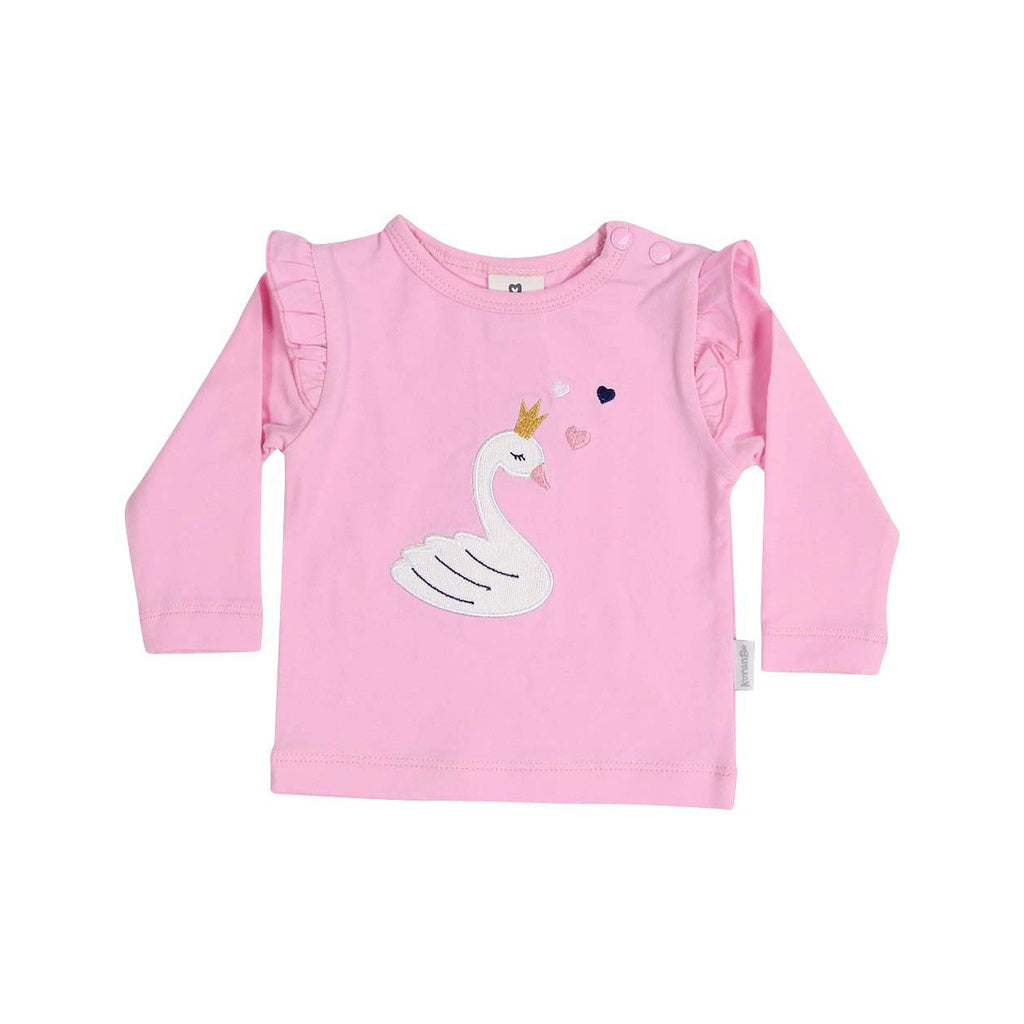 B13011P Swan Princess Applique Top-Tops-Korango