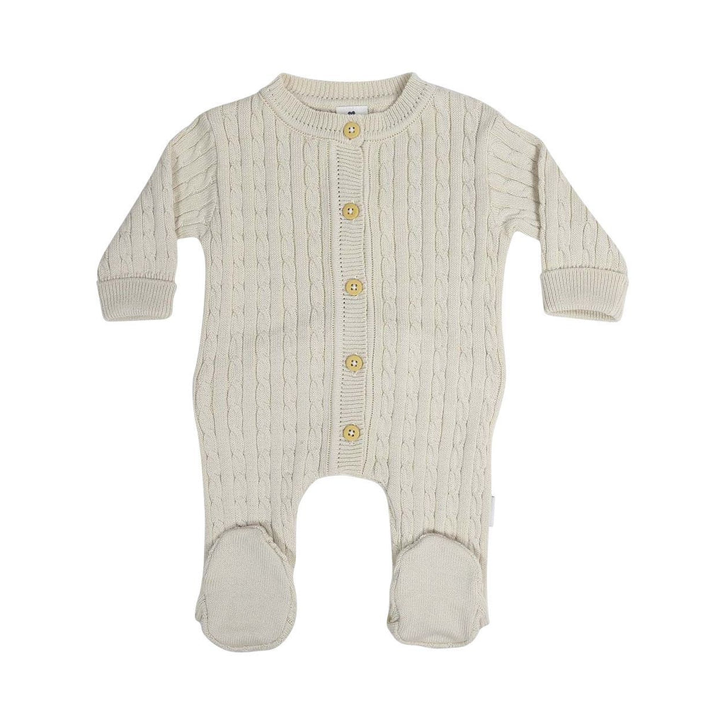 C13013B Classique Girl Cable Knit Romper-All In Ones-Korango