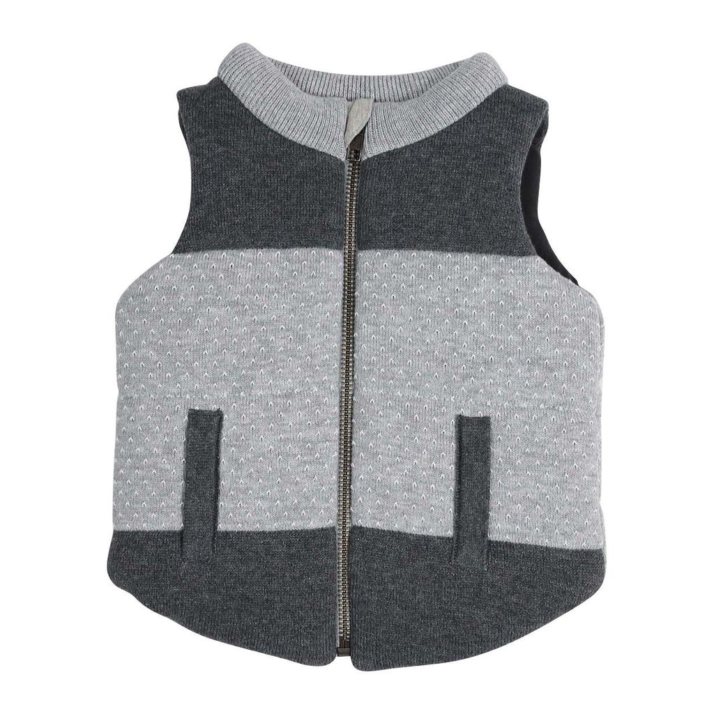 A1302C Tiger Padded Knit Vest-Cardigans/Sweaters/Jackets-Korango