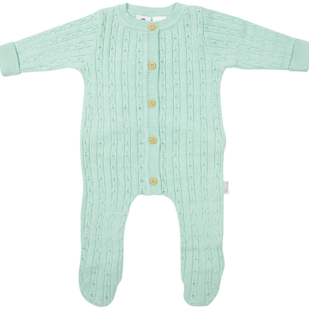 C1718M Fine Cable Knit Romper