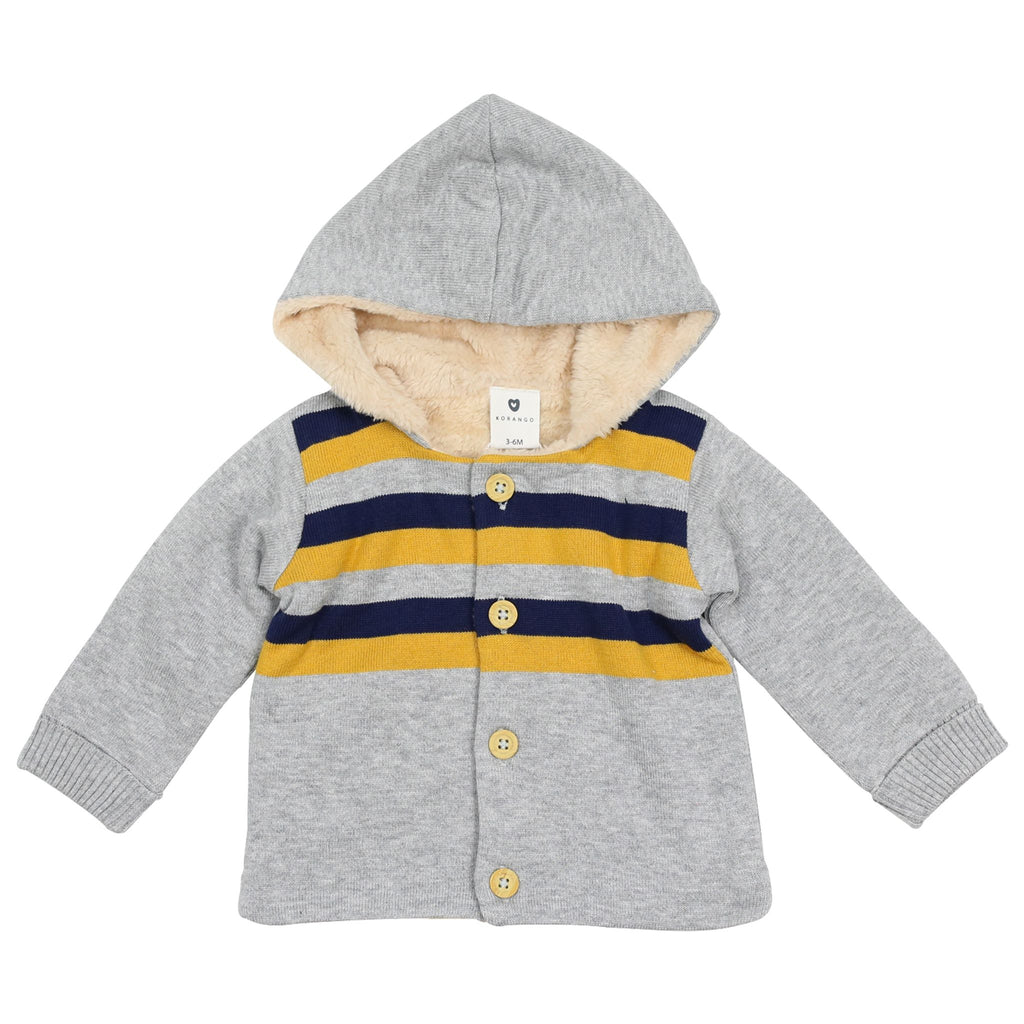 A1501G Polar Bear Lined Knit Jacket