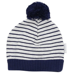 C1514N Truck Yeah Striped Knit Beanie with Pom Pom