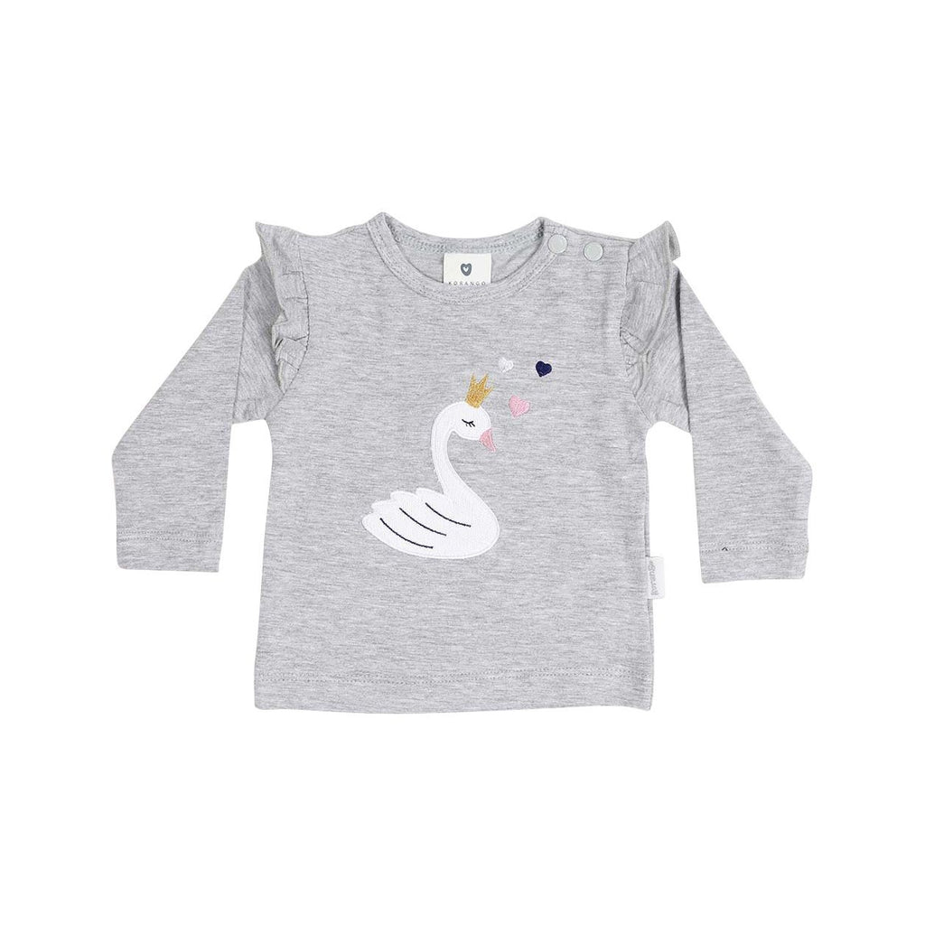 B13011G Swan Princess Applique Top-Tops-Korango
