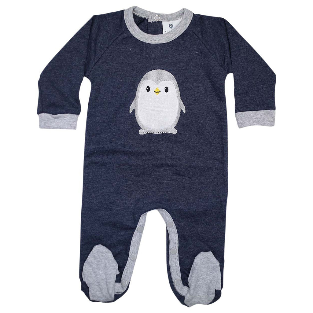 B13018N Baby Penguin Long Sleeve Romper-All In Ones-Korango