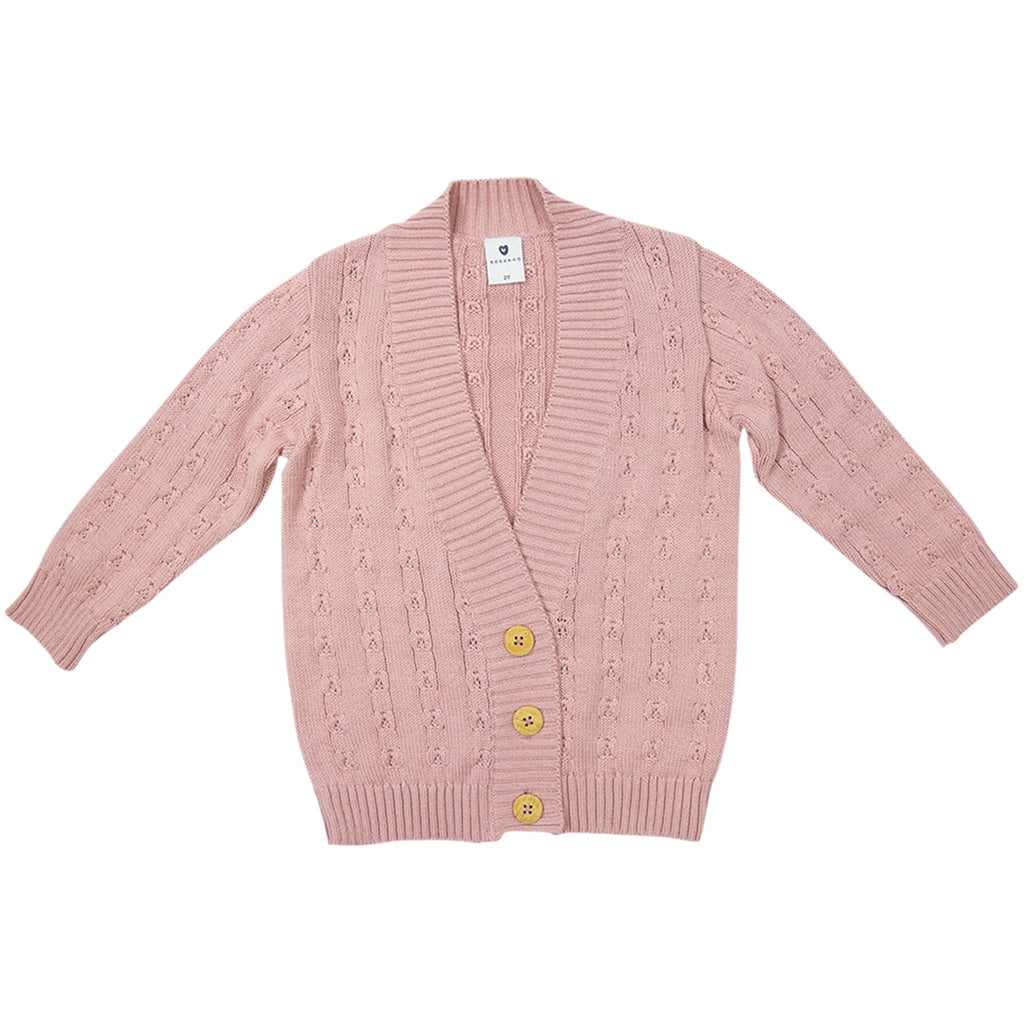 C1734P Girl Polka Long Cardigan
