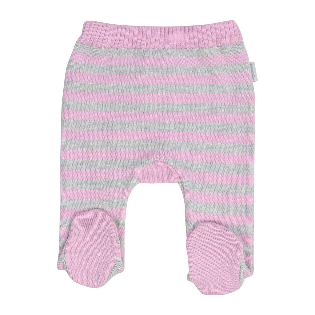 B13012G Swan Princess Stripe Knit Legging-Bottoms-Korango