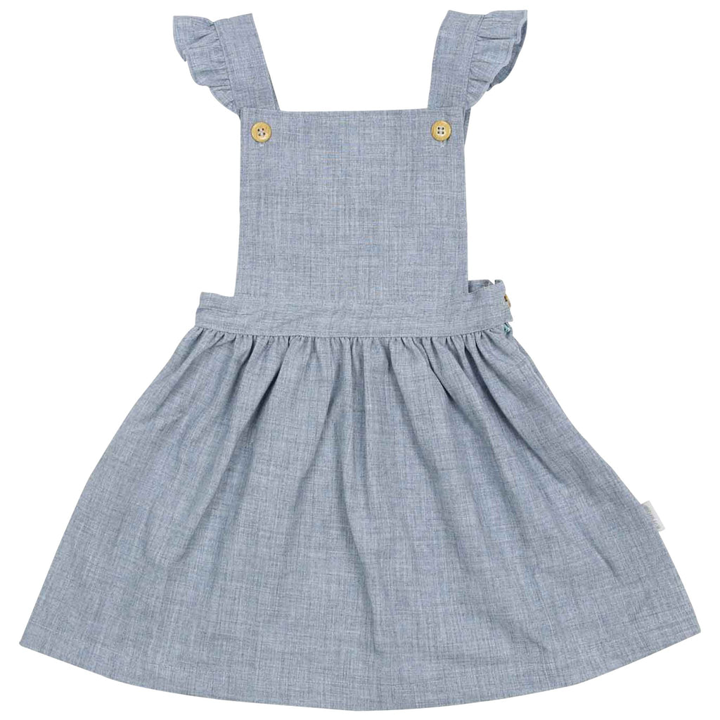 C1534B Natural Girl,Baby Girl Frill Pinafore