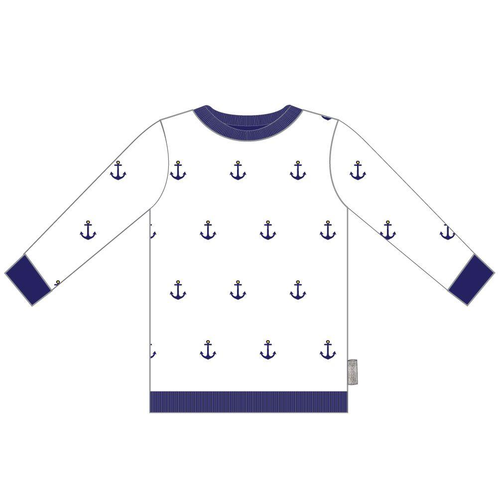 C1630W Nautical Printed Sweater