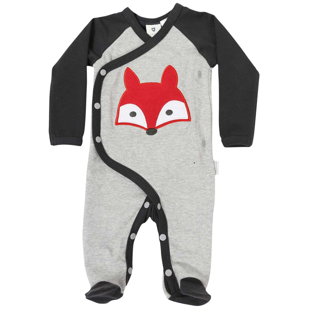 B1101 Mr Fox Long Sleeve Romper
