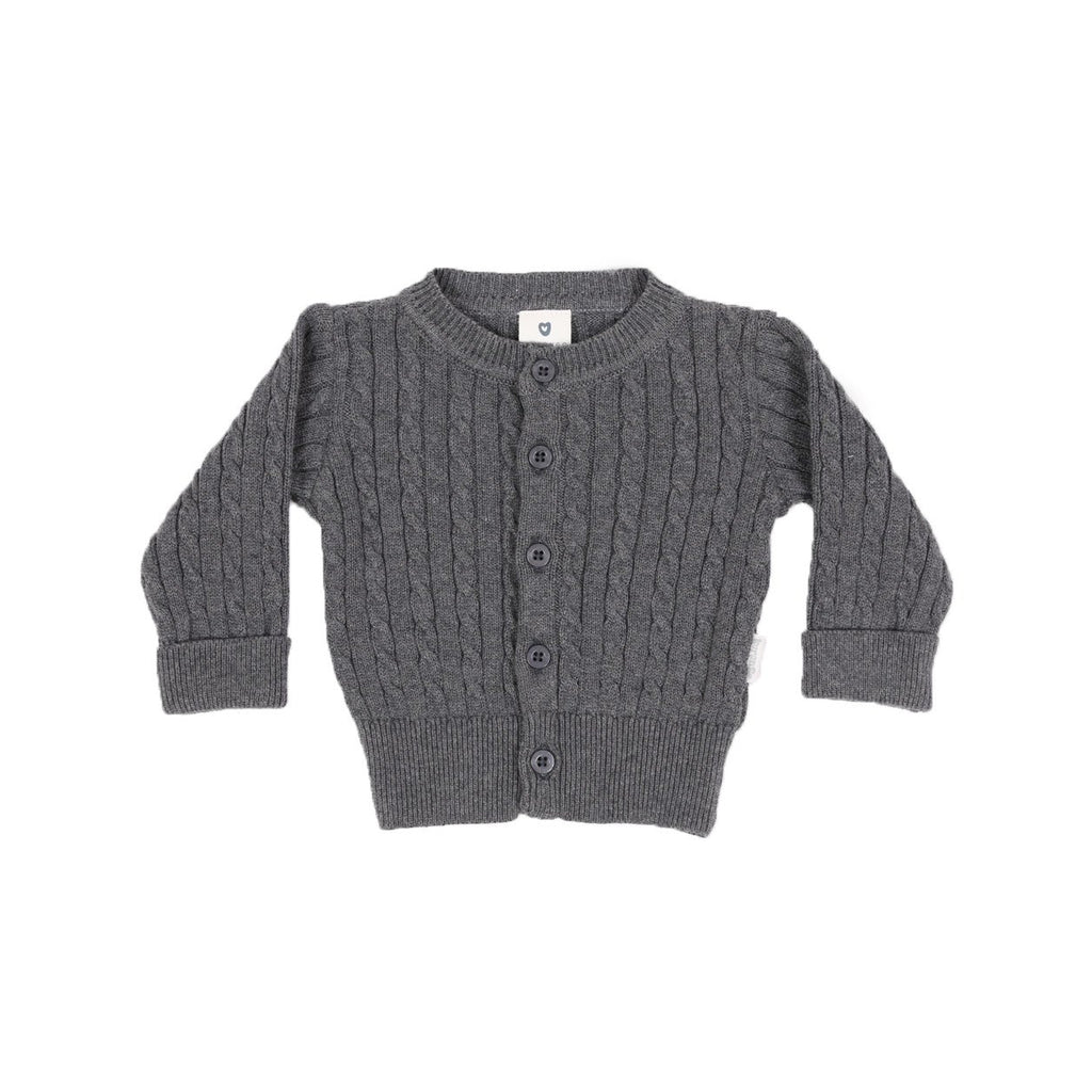 B1102C Mr Fox Cable Knit Jacket-Cardigans/Sweaters/Jackets-Korango