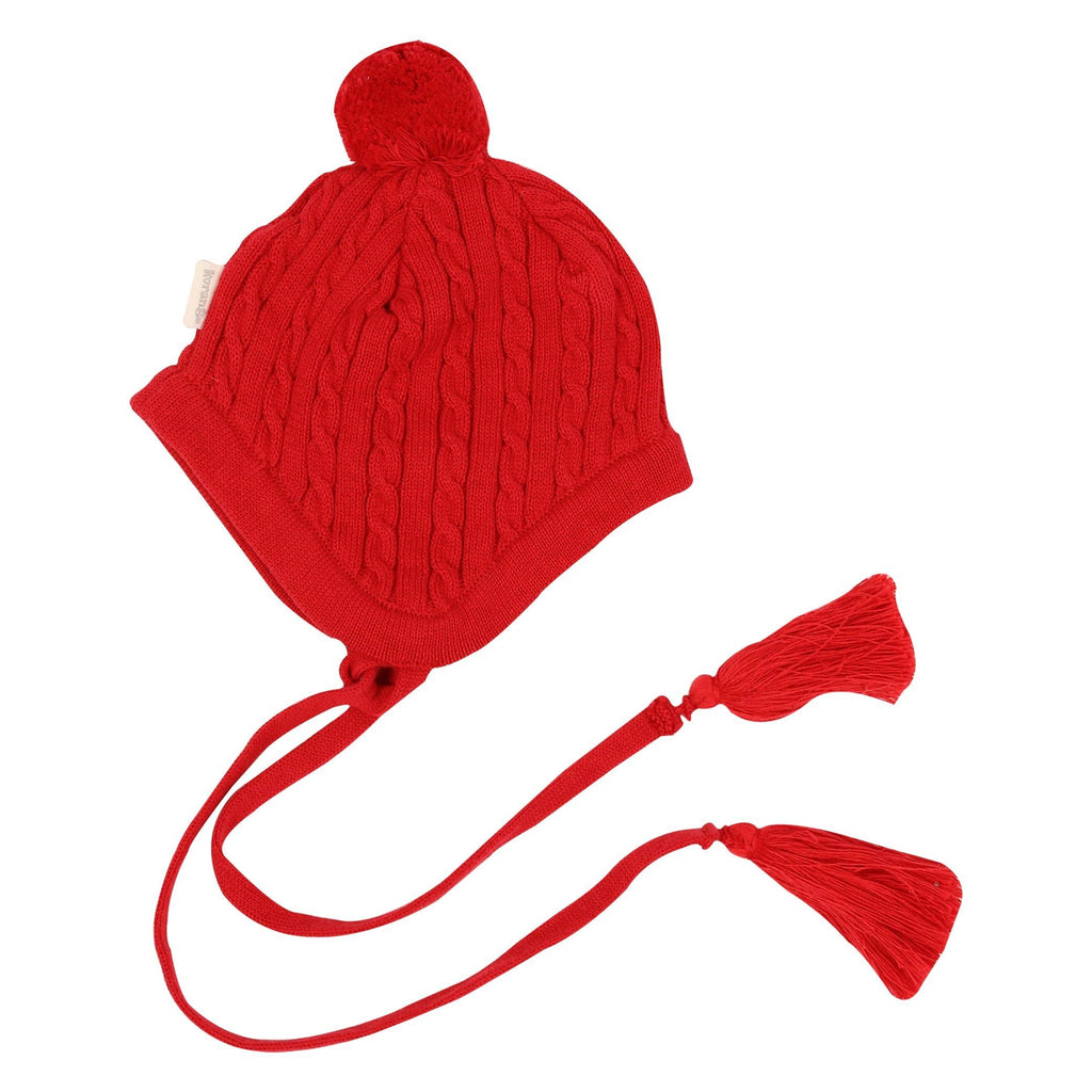 B1106R Mr Fox Cable Knit Beanie-Accessories-Korango