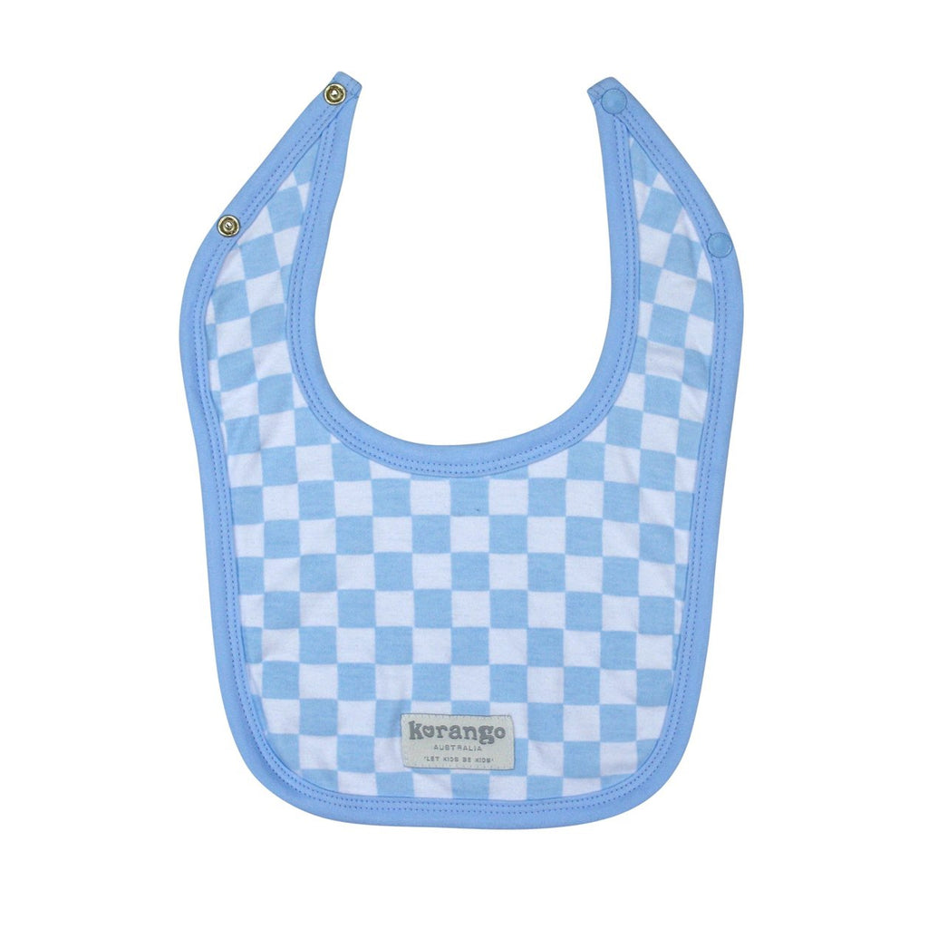 B8009 Baby Check 2 pack Bib-Accessories-Korango