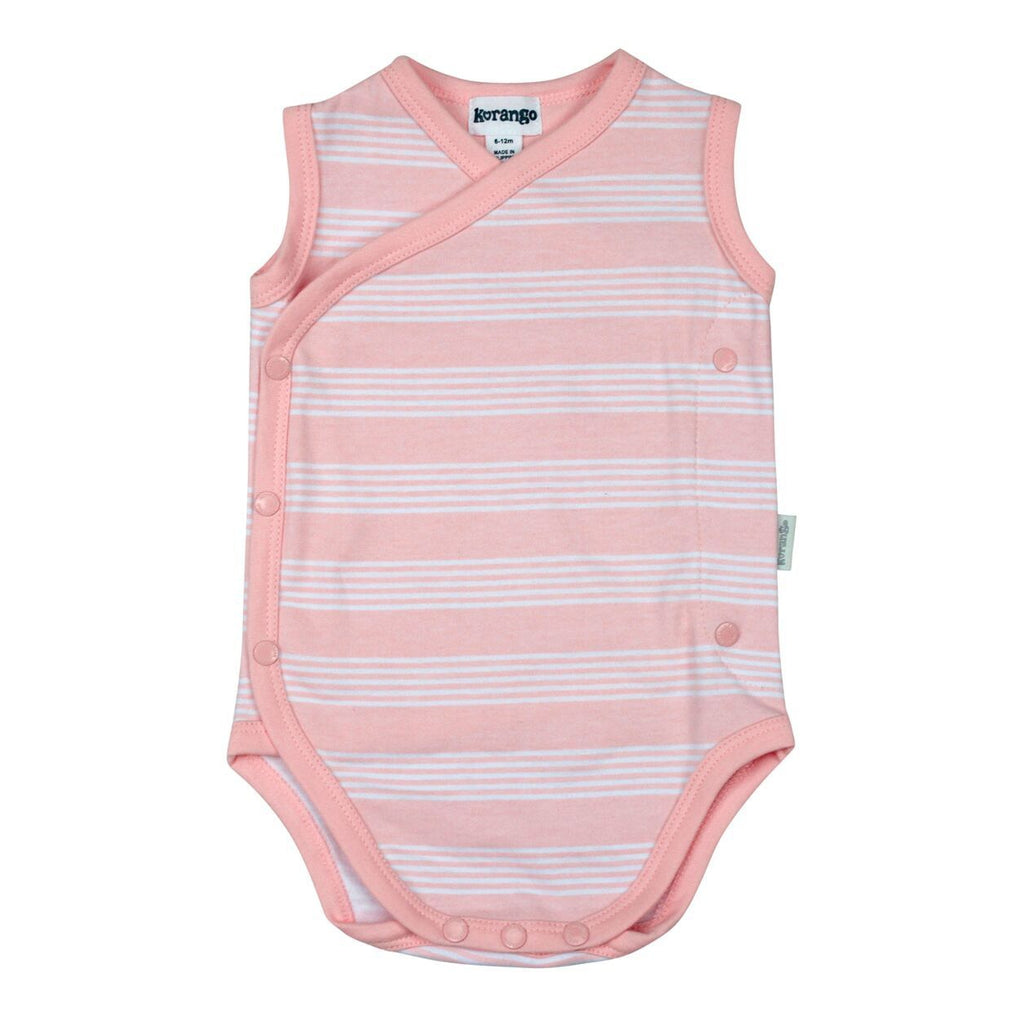 B8012 Baby Hearts Sleeveless Bodysuit-All In Ones-Korango