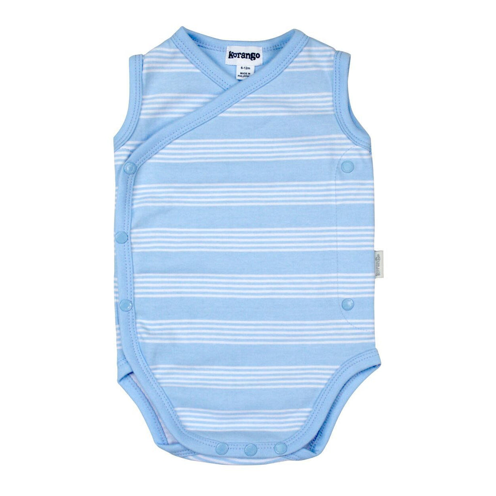 B8017 Baby Check Sleeveless Bodysuit