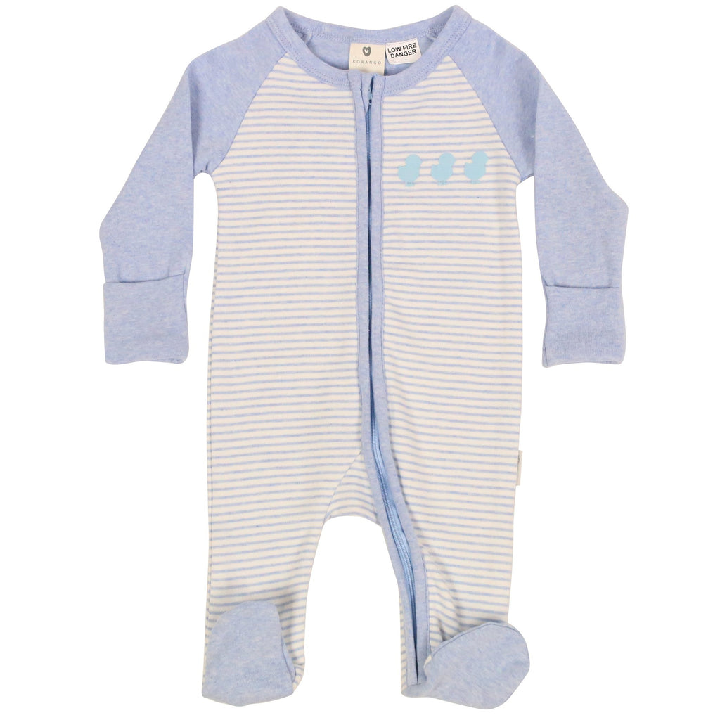 B9019B Plush Baby Zip Romper-All In Ones-Korango