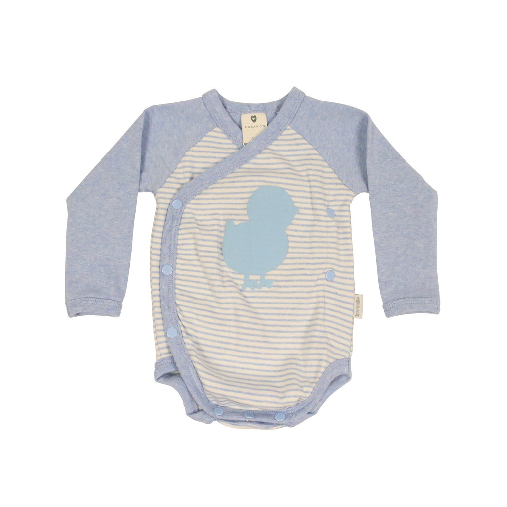 B9021B Plush Baby Long Sleeve Bodysuit-All In Ones-Korango