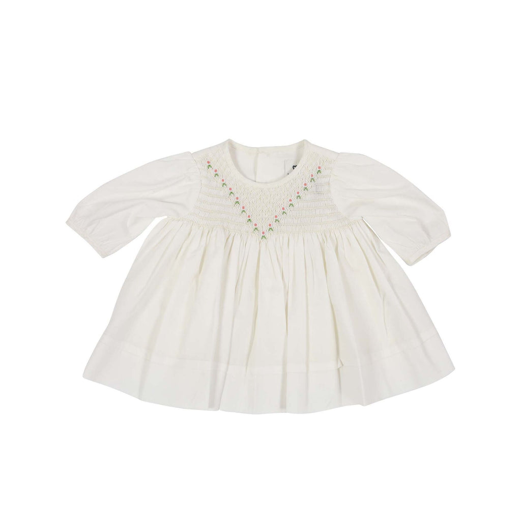 C1101W Precious Pieces Smocked Voile Dress