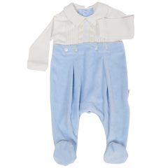 C1106 Boys Layette Cotton Romper