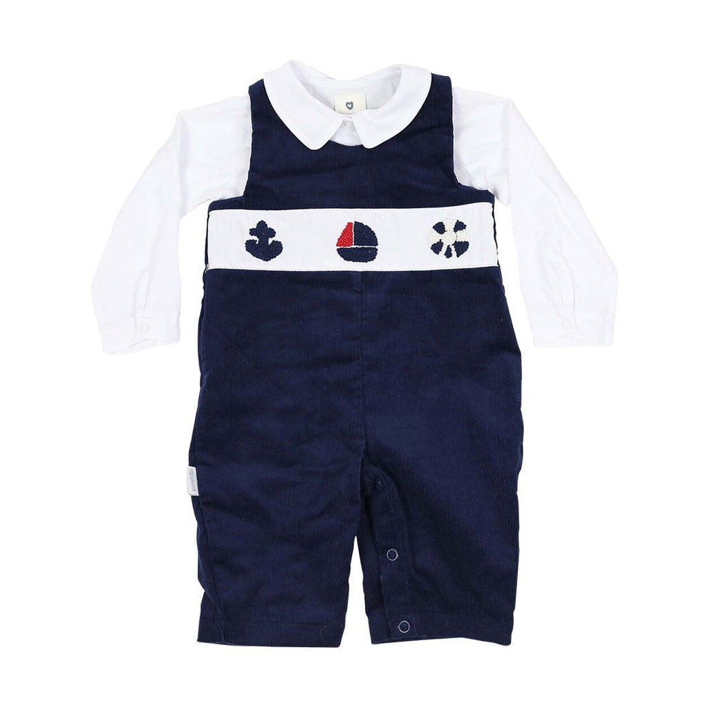C1121 Little Boater Cord Sailor Overall