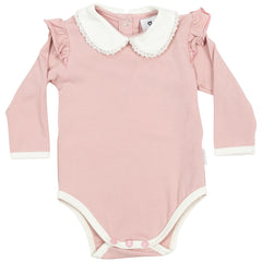 C1504P Natural Class Collared Bodysuit