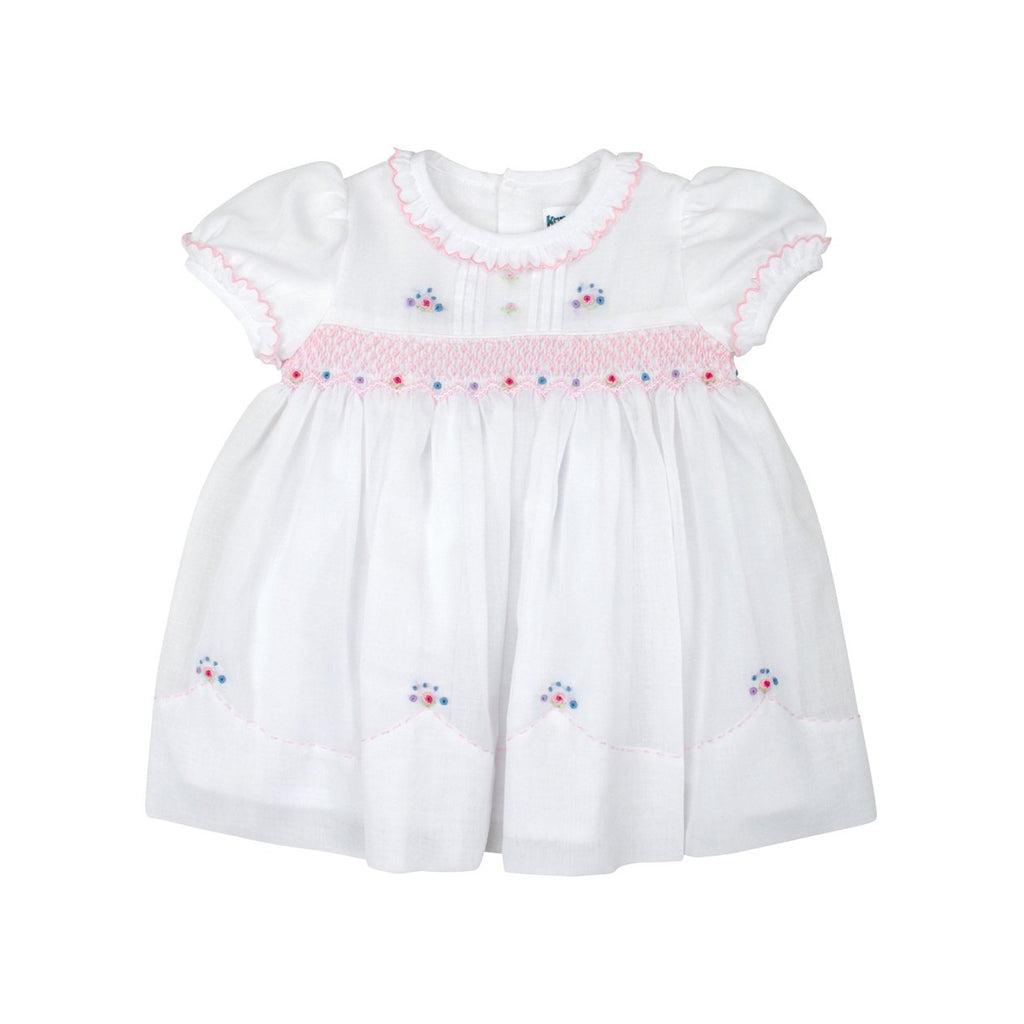 C8001 Summer Class Classic Smocked Dress-Dresses-Korango