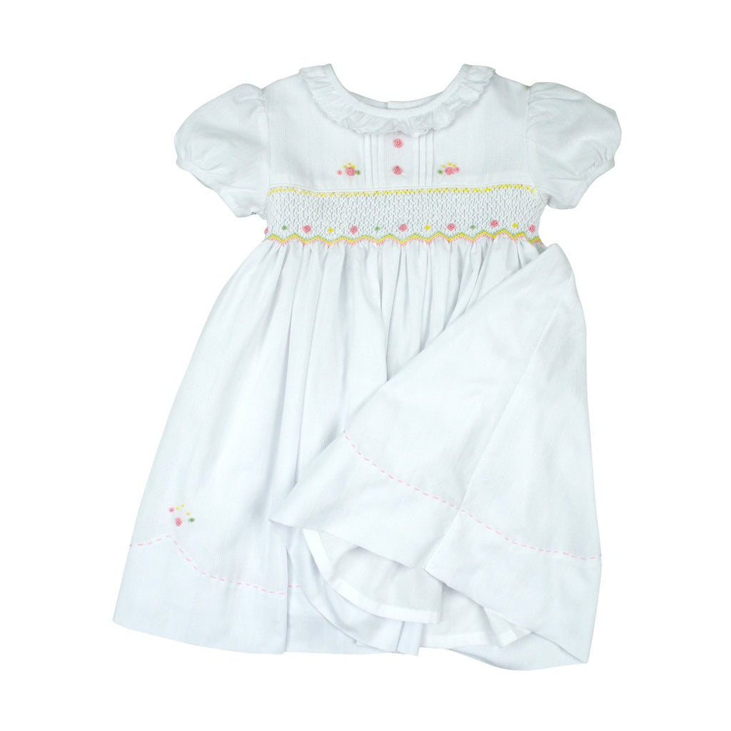 C8014 Colours Vibrant Smocked Dress-Dresses-Korango