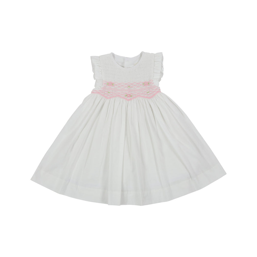 C1004W Sweet Style Sleeveless Smocked Dress