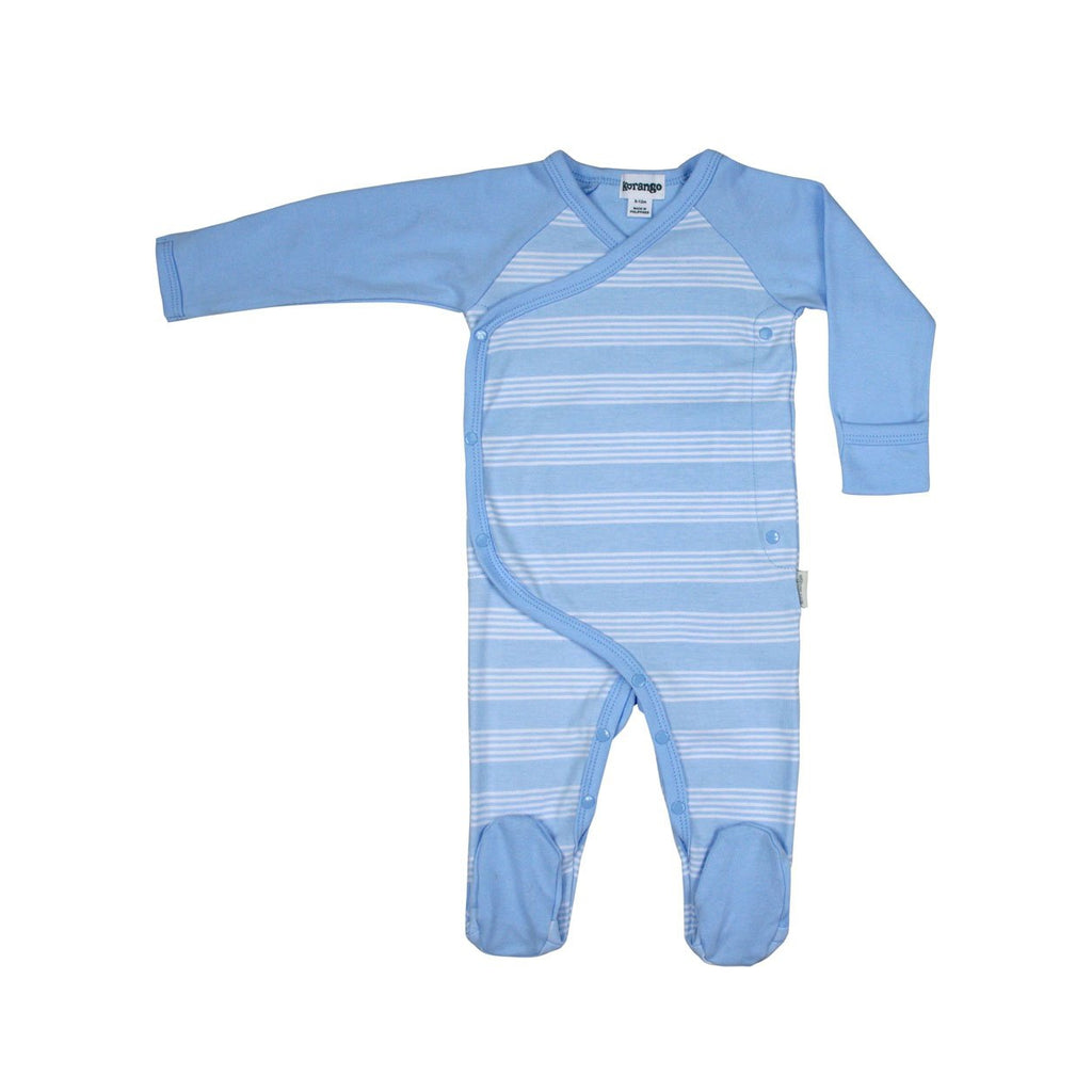 B8006S Baby Check Long Sleeve Romper