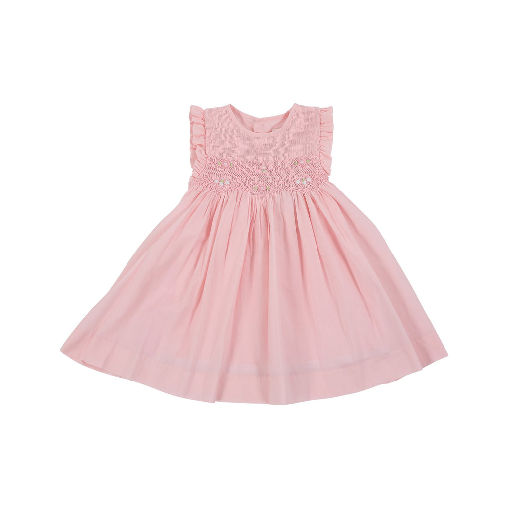 C1004P Sweet Style Sleeveless Smocked Dress