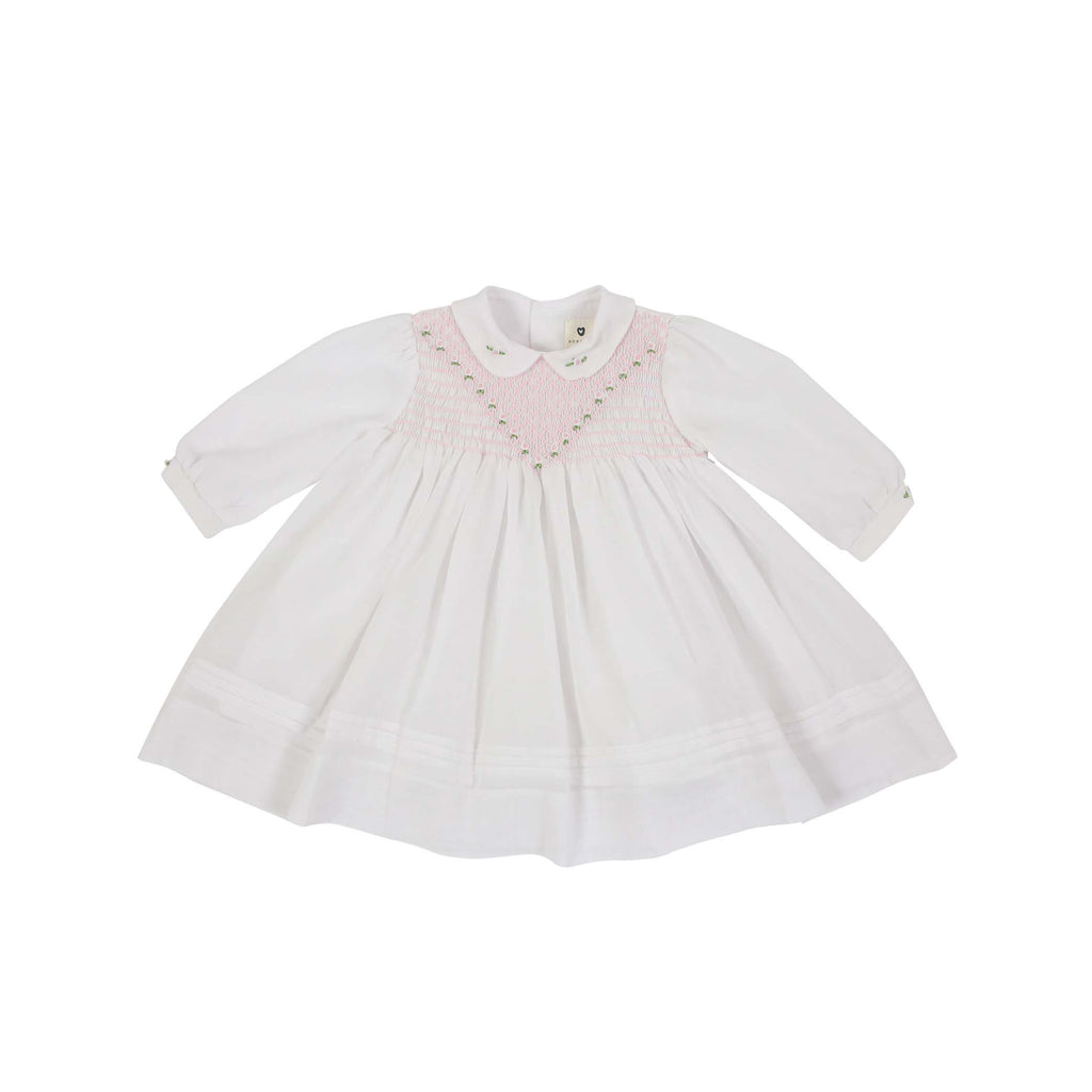 C1101I Precious Pieces Smocked Voile Dress