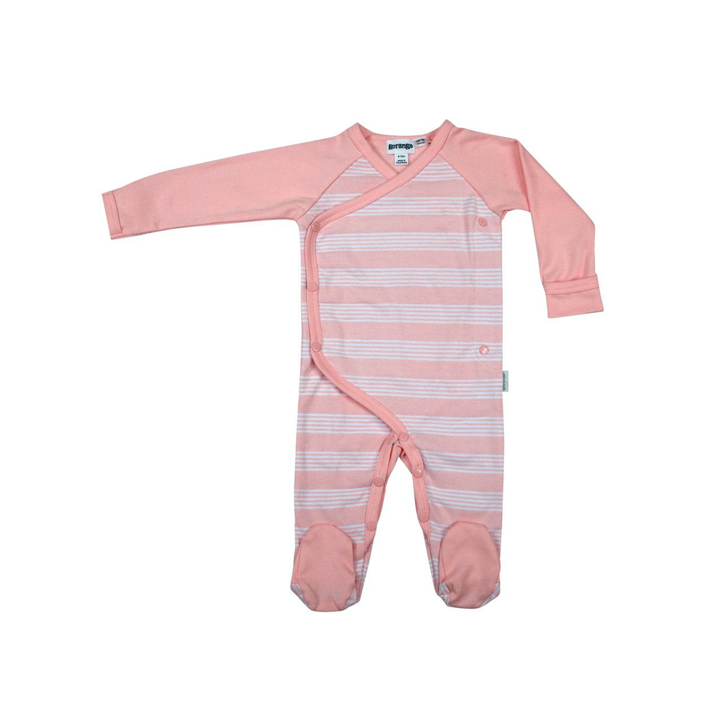 B8001 Baby Hearts Long Sleeve Romper