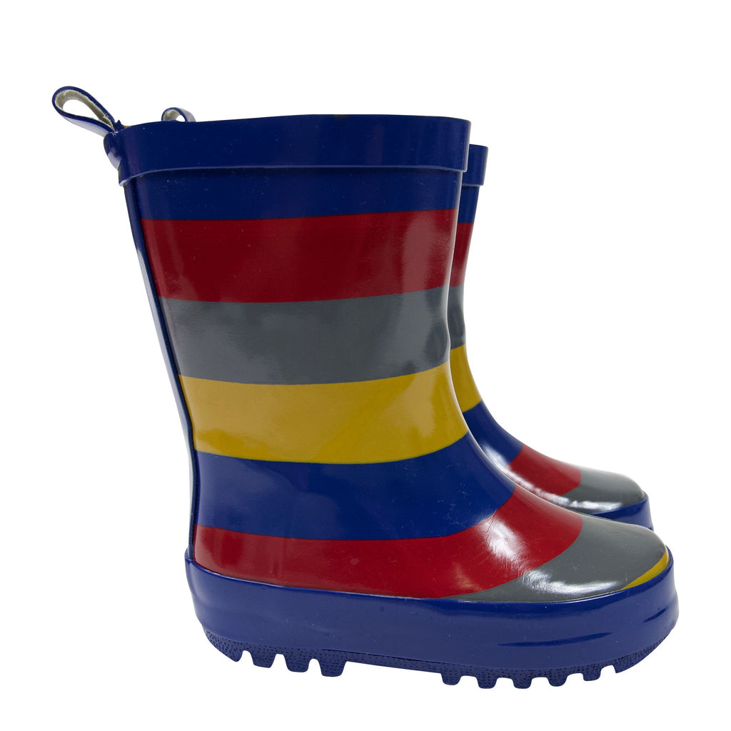 A1759M Rainwear Boys Striped Rain Boot